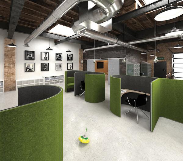 office pod work place desk furniture