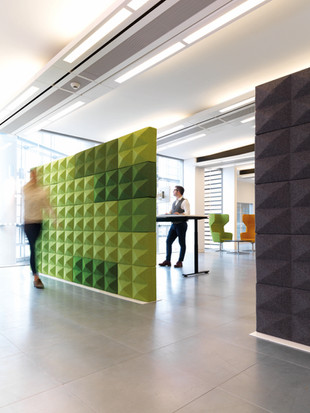 fabric partition acoustics office work space