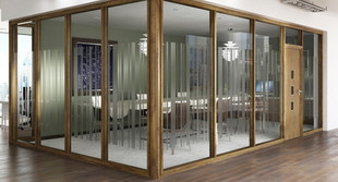 double glazed partitioning office space work