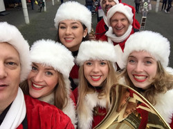 Christmas Playing Tuba