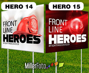 18x24 lawn sign Front Line Heroes Fire S
