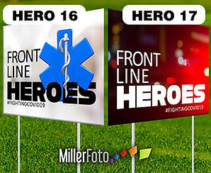 18x24 lawn sign Front Line Heroes EMS SI