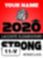 18x24 lawn sign blue 2020 Vertical 11V.j