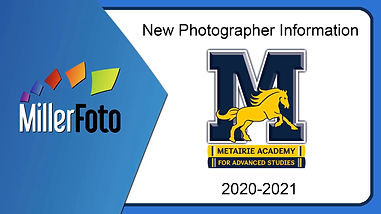 Metairie Academy Picture Day info 2020-2021