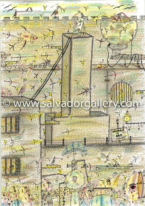 A3 PRINT 'The Wonky Ladder' - A3 Limited Edition 1/250