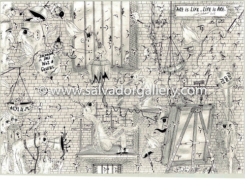A3 PRINT 'Looking Out To The Real World' - A3 Limited Edition Print 1/250