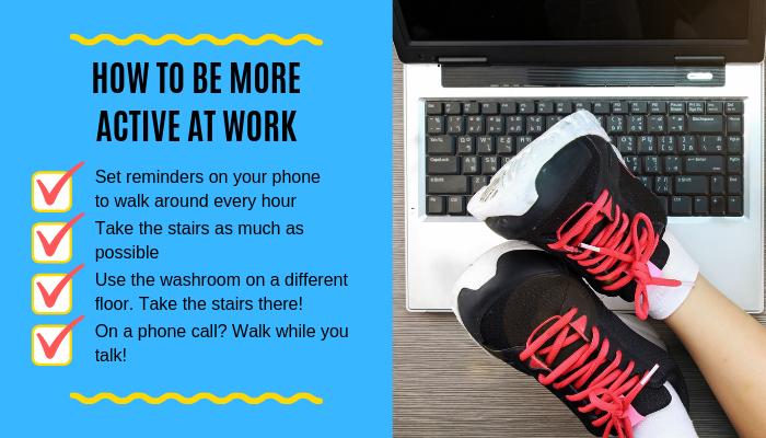 Be More Active At Work