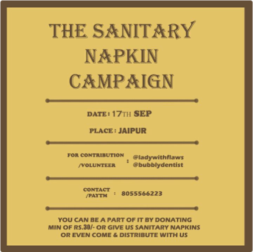 Sanitary Napkin Campaign | TwitterGetsFitter