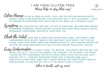 I have Celiac Disease Printable free