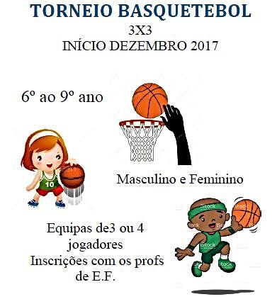 Torneio e Basquetebol 3 x 3