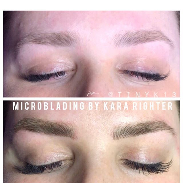 Microblading done by me. Love this beauty's eyes!!! Swipe for more before and afters.jpg