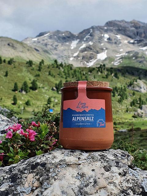 Pfannengesiedetes Alpensalz