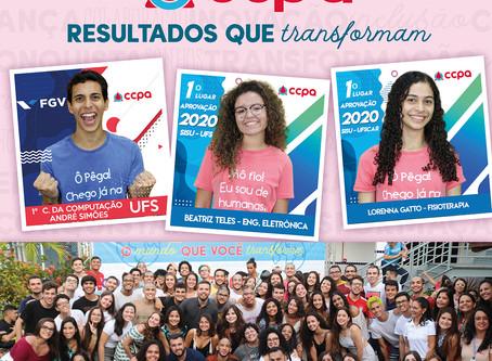 CCPA 1º LUGAR SISU - UFS - Resultados que Transformam