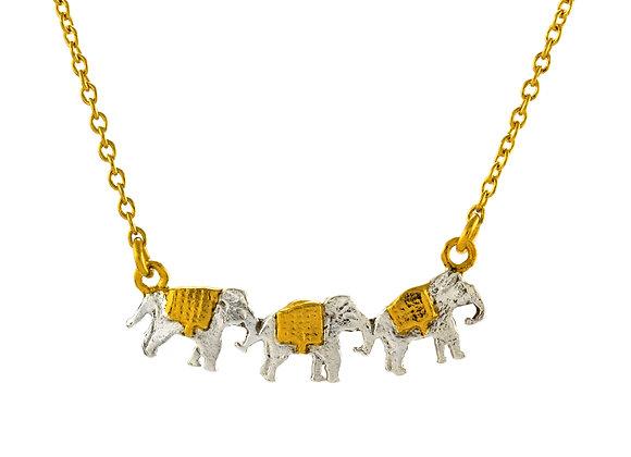 Alex Monroe Marching Elephants Necklace