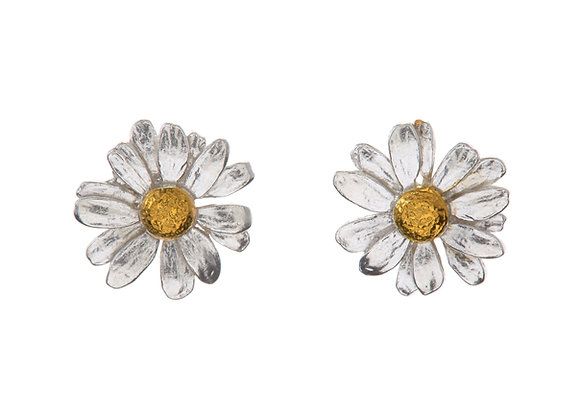 Alex Monroe Classic Daisy Stud Earrings