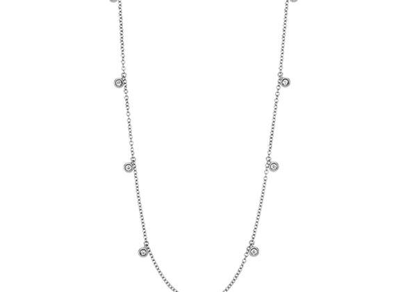 18ct White Gold Diamond Chain Necklace