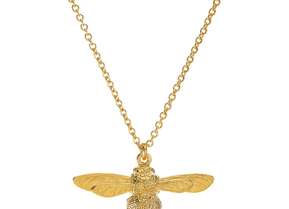 Alex Monroe Baby Bee Necklace Gold Plated
