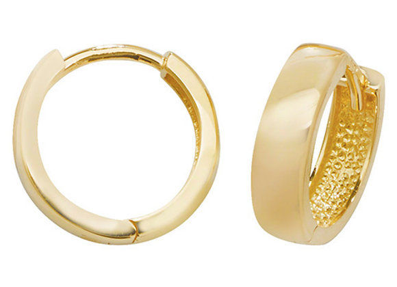 9ct Yellow Gold Hinged Hoop Earrings