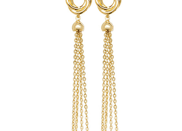 9ct Yellow Gold Vintage Inspired Drop Earrings