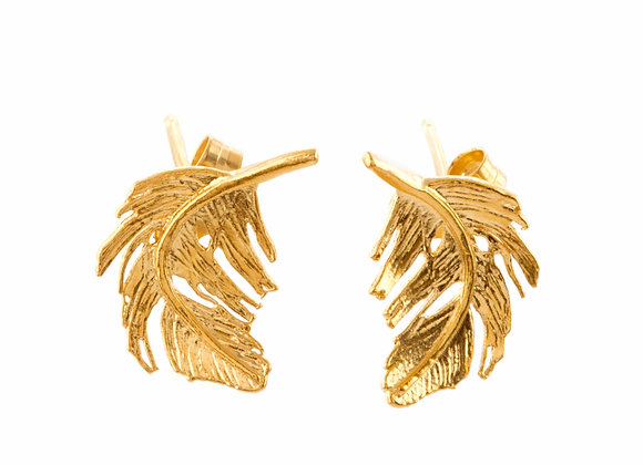 Alex Monroe Feather Stud Earrings