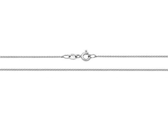18ct White Gold Close Curb Chain