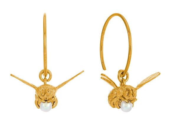 Alex Monroe Flying Bee Hoop Earrings
