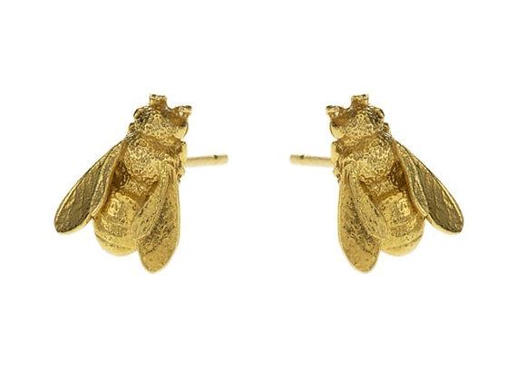 Alex Monroe Honeybee Stud Earrings