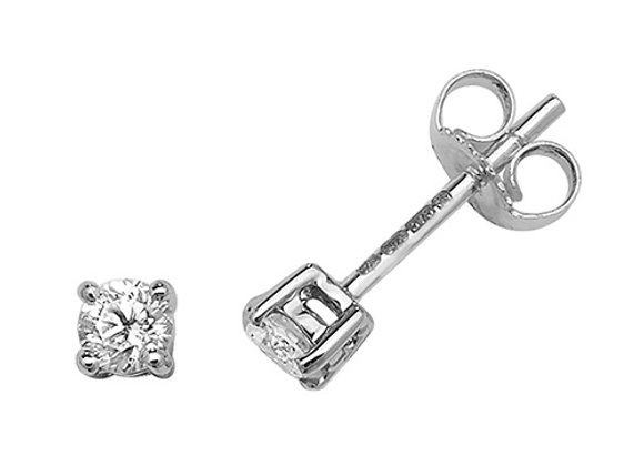 Claw Set Diamond Studs 0.40ct