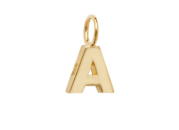 9ct Yellow Gold Initial Pendant