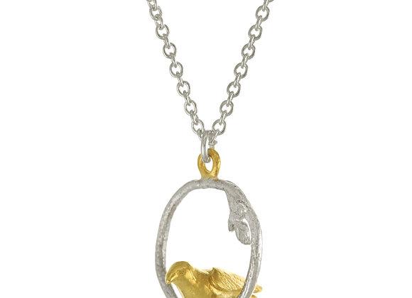 Alex Monroe Tiny Bird Loop Necklace