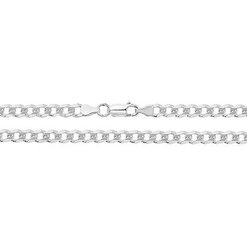 Men's Silver Curb Chain