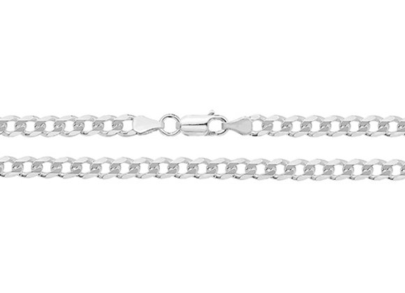 Men's Silver Curb Chain