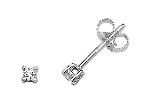 Claw Set Diamond Studs 0.10ct