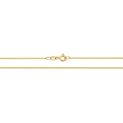 18ct Yellow Gold Close Curb Chain