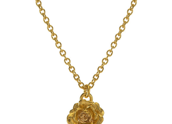 Alex Monroe Rose Damasca NecklaceGold Plated