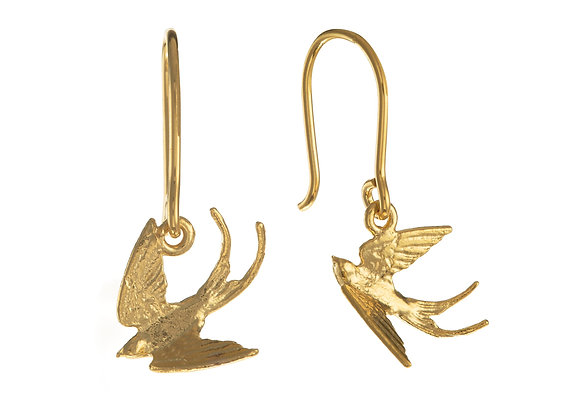 Alex Monroe Small Swooping Swallow Hook Earrings