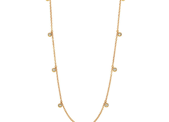 18ct Yellow Gold Diamond Chain Necklace