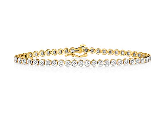 Illusion Set Diamond Line Bracelet