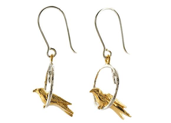 Alex Monroe - Tiny Bird Loop Earrings