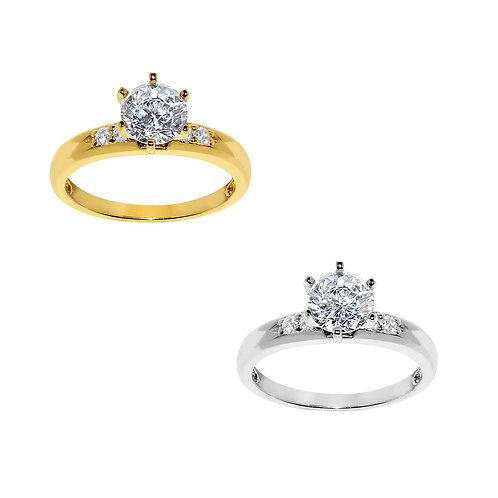 14k Yellow or White Gold 1 1/10ct TGW Round-cut Diamonette Engagement Ring