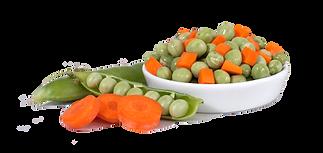Zanahoria Arvejas verduras granos vegetales