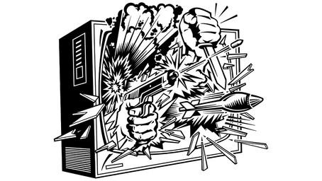 Piratería de caricatura y guerra mediática