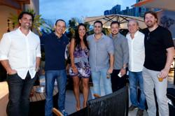 Rogerio Laporta, Marcelo Trida, Carolina, Guto, Antonio Gibelato e Marcio Passero