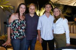 Paula Tavares, Reinaldo Silva Tavares e Guilherme Tavares  com Adriana Mascarenhas