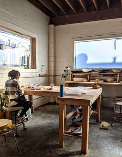 Handbuilding workspace 2