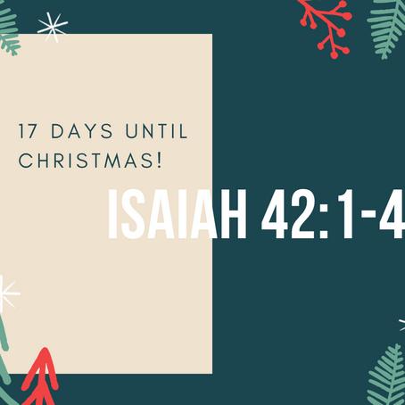 17 Days - Isaiah 42:1-4