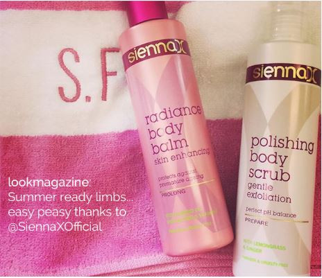 Sienna X Radiance Body Balm & Polishing Body Scrub