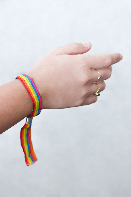 5x Lgbtq+ Regenbogen  | Pridearmband