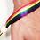 Thumbnail: Lgbtq+ Regenbogen | Pridearmband aus recyceltem PET mit Holzperle