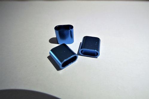Aluminiumverschluss für Festivalbänder | blau